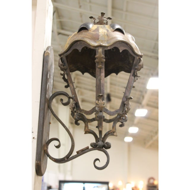 Metal and Copper Sconces - A Pair For Sale - Image 10 of 10