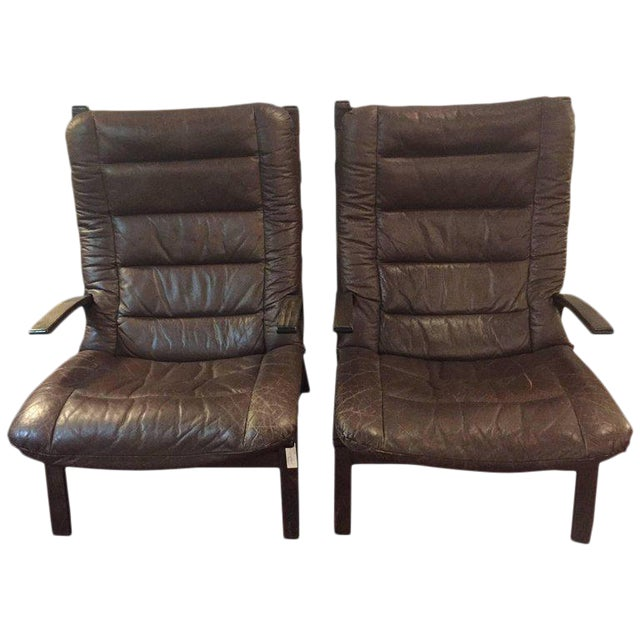 Pair of Mid-Century Modern Siesta Lounge Chairs by Ingmar Relling for Westnofa For Sale - Image 9 of 9