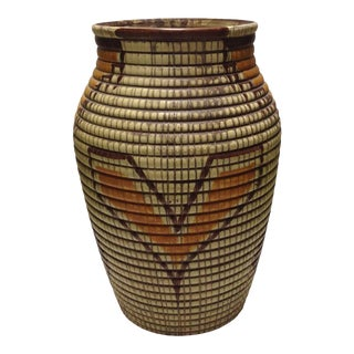 Large Vintage Italian Floor Vase Made in Italy For Sale