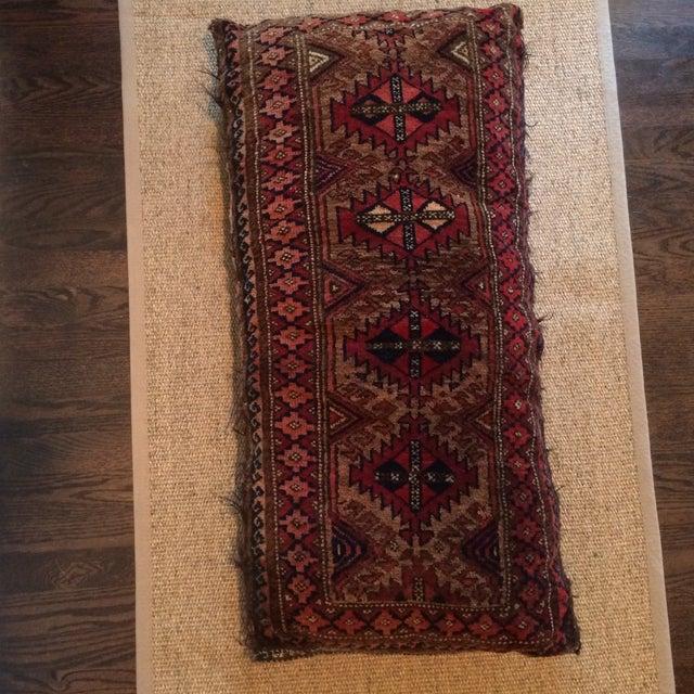 Vintage Rug Remnant Floor Pillow - Image 4 of 10