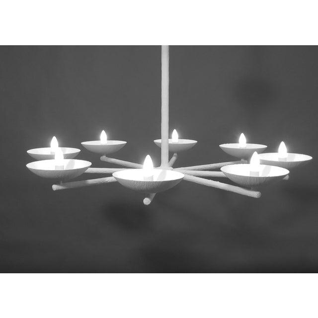 Modern Plaster Spoke Chandelier By Apsara Interiors For Sale - Image 3 of 6