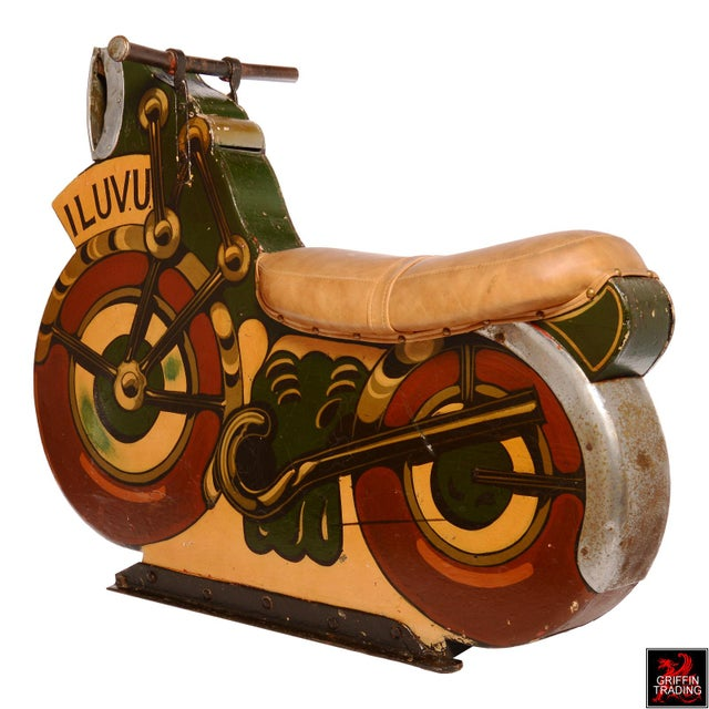 Americana Antique Motorcycle Ride for a Carnival Carousel and Merry-Go-Round For Sale - Image 3 of 11