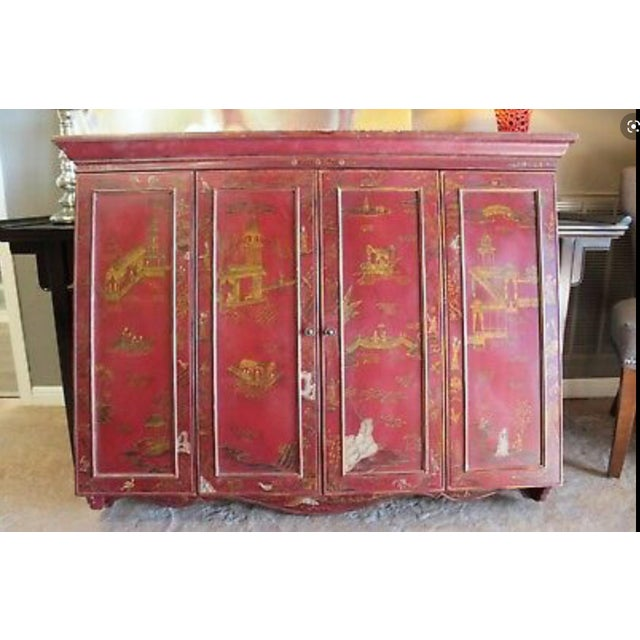 Maitland Smith Chinoiserie Wall Cabinet For Sale - Image 9 of 9
