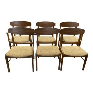 Mid Century 'Danish Forum' Teak Dining Chairs by Stanley Furniture Set of 6 For Sale