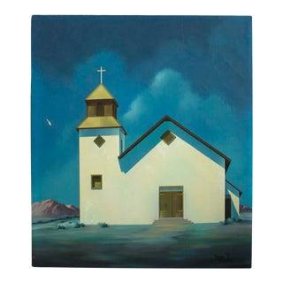Vintage Southwest Mission Oil Painting