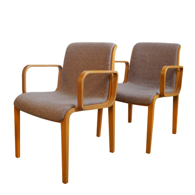 1980s Vintage Bill Stephens for Knoll Dining Chairs- A Pair For Sale