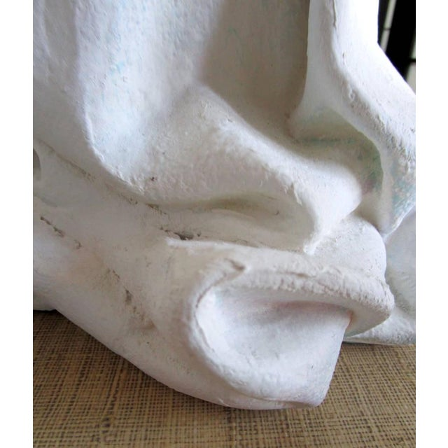 Draped Plaster Lamps After John Dickinson - Pair For Sale In Los Angeles - Image 6 of 7