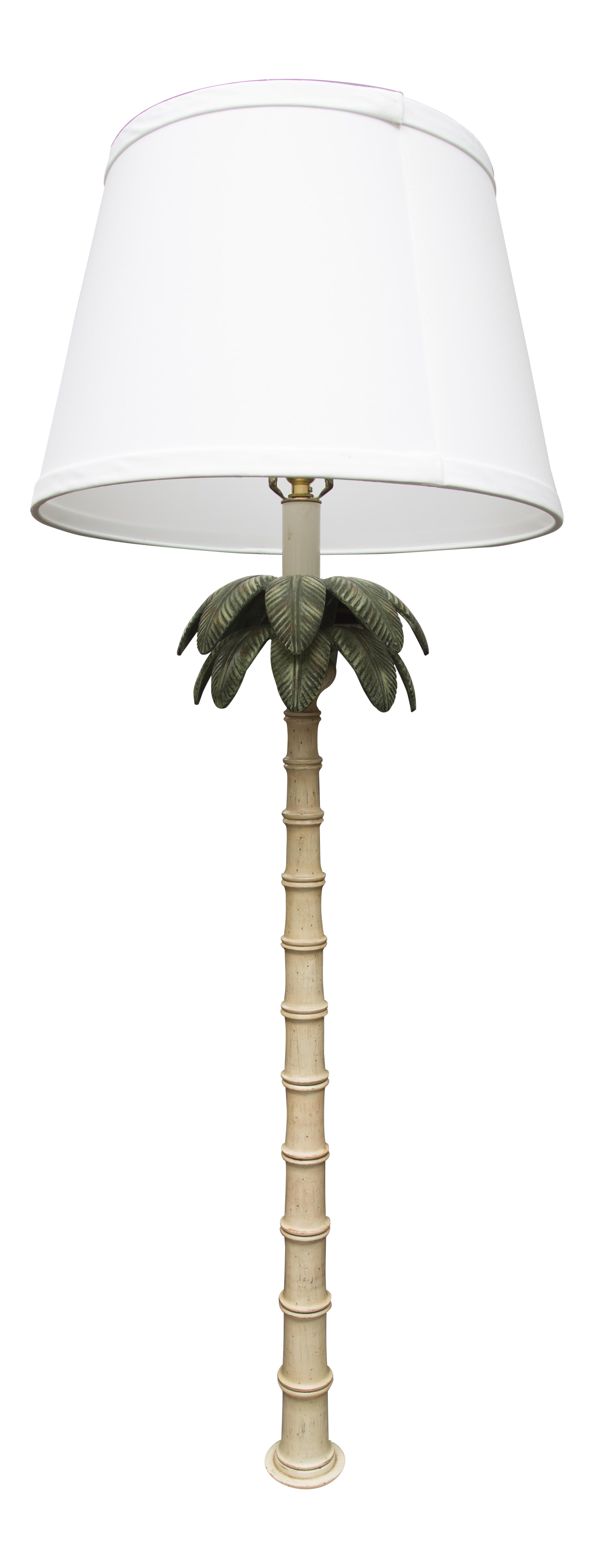 Polychromed Tole Palm Tree Floor Lamp   Image 1 Of 6