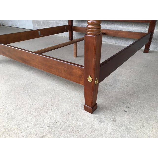 Chippendale Henredon Mahogany King Size Chippendale Style Rice Tobacco Poster Bed For Sale - Image 3 of 13