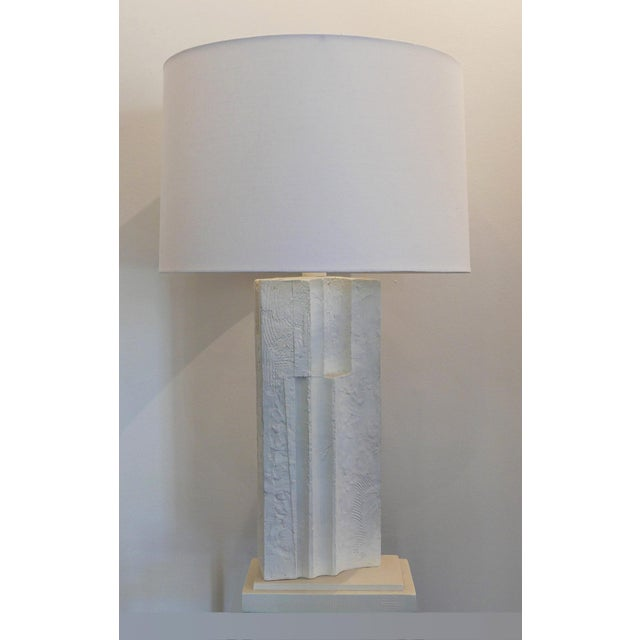 Cubist Plaster Lamp For Sale In Palm Springs - Image 6 of 6