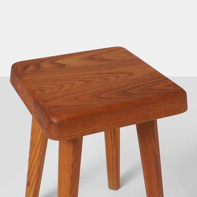 1960s Stools by Pierre Chapo Model S01A - a pair For Sale - Image 5 of 7