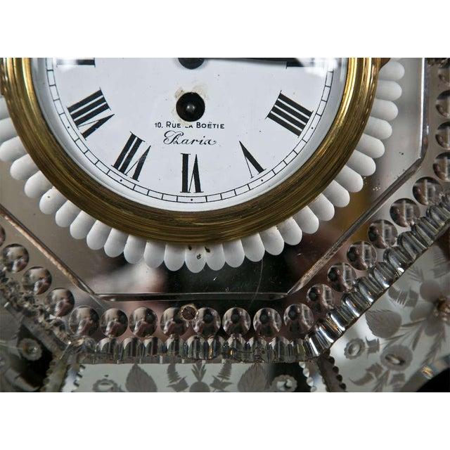 Venetian Glass Mirrored Clock - Image 5 of 7