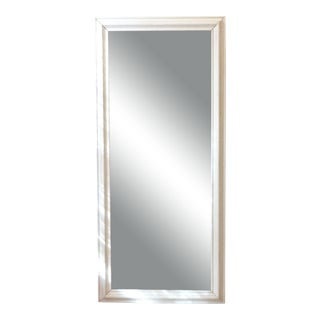 Antique White Crackle Finish Mirror For Sale