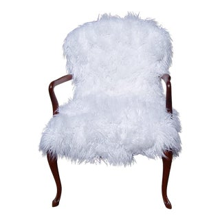 1940's Faux Fur Side Chair For Sale