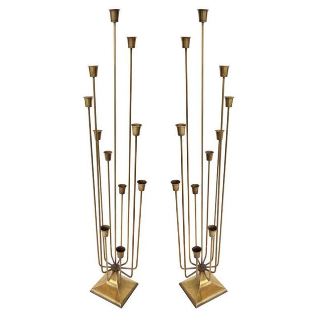 """""""Teo"""" 11 Cup Candleholders - a Pair For Sale In Los Angeles - Image 6 of 6"""