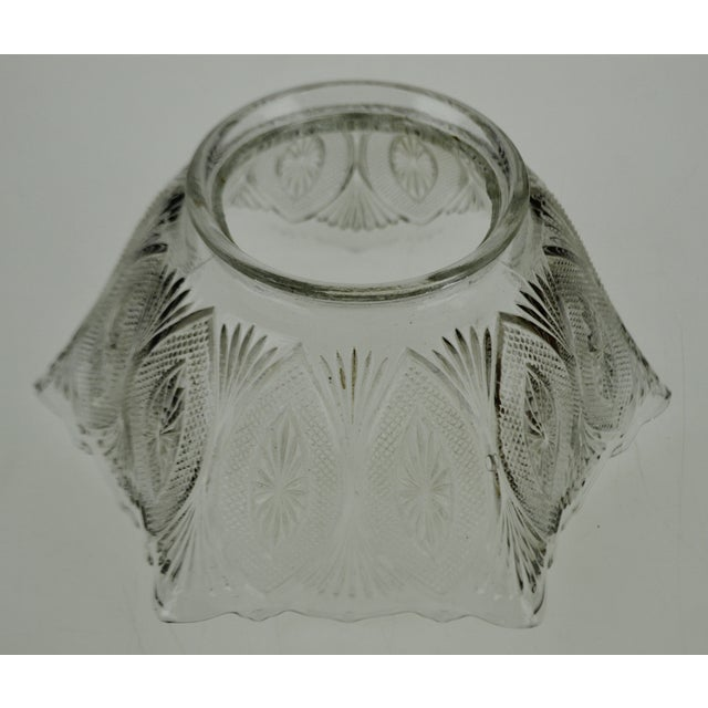 Victorian Style Pressed Glass Gas Light Shade For Sale - Image 11 of 13