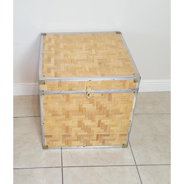 Nice looking trunk. Cover with woven pieces of bamboo and brass accents to complete this Chinese look. Perfect addition to...