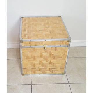 Chinoiserie Woven Bamboo Storage Trunk Preview