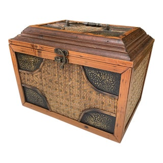 Chinoiserie Asian Basket Box For Sale
