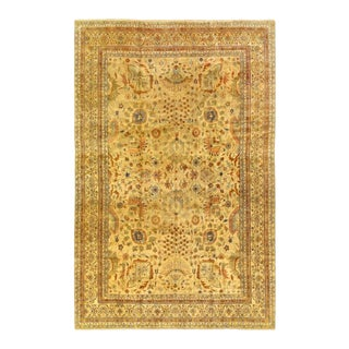 Pasargad Beige Fine Hand Knotted Sultanabad Rug 12' X 18' For Sale