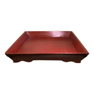 Large Asian Square Elm Tray For Sale