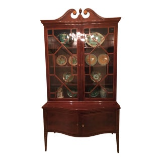 American Federal Period Mahogany & Satinwood Inlaid Cabinet C. 1820 For Sale