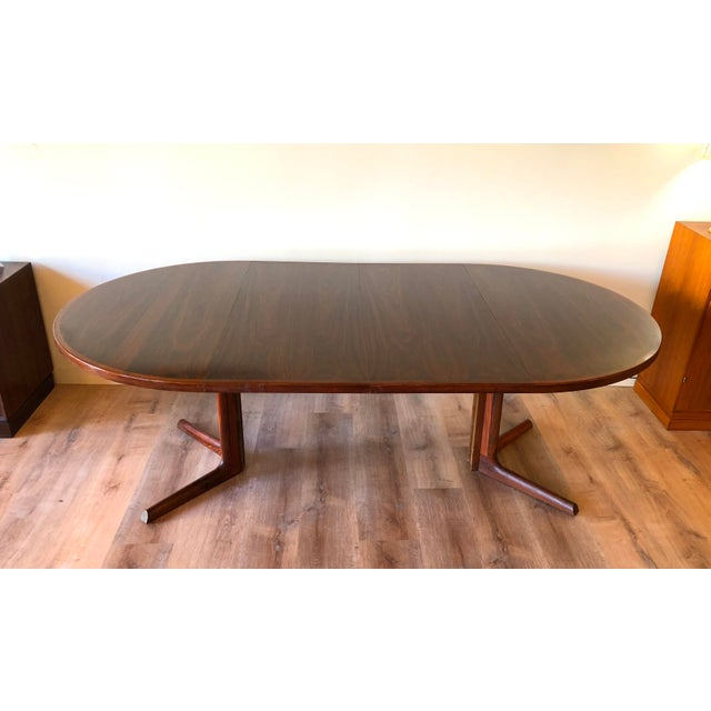 Brown Gudme Mobelfabric Danish MCM Rosewood Dining Table With 2 Leaves For Sale - Image 8 of 13