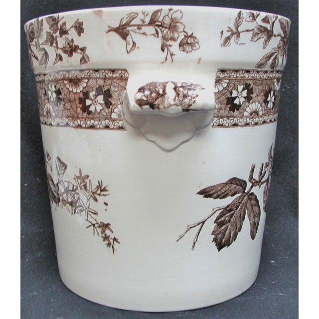 T. Furnival & Sons Brown Hazel 8 Quart Sop Pot Jar and Lid For Sale - Image 4 of 10