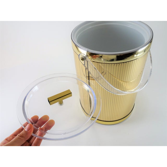 Georges Briard Georges Briard Mid-Century Modern Gold Ice Bucket For Sale - Image 4 of 13