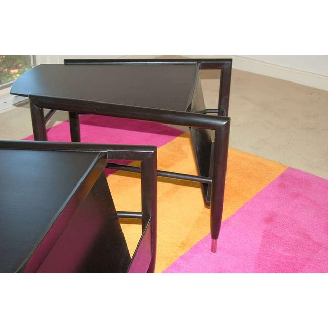 Metal John Keal for Brown Saltman Wedge Side Tables For Sale - Image 7 of 10