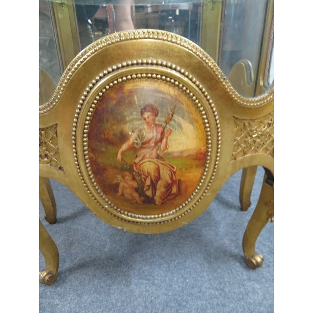 Vernis Martin French Curio Cabinet For Sale - Image 4 of 10