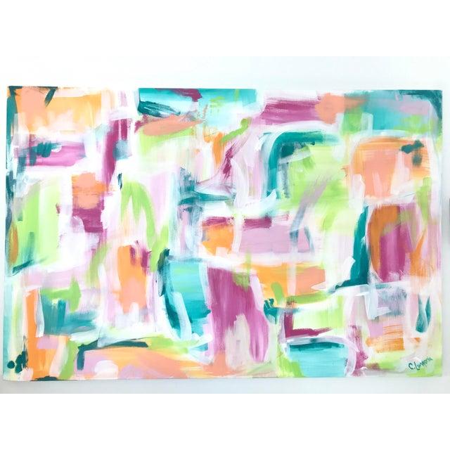 "2010s Christina Longoria ""Melbourne"" Original Painting For Sale - Image 5 of 5"