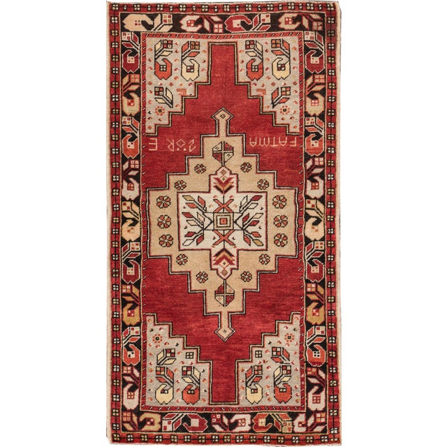"""Mid-20th Century Vintage Anatolian Rug, 3'6"""" X 6'5"""" For Sale - Image 4 of 4"""