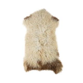 "Contemporary Long Soft Wool Sheepskin Pelt Rug - 2'0""x3'7"" For Sale"