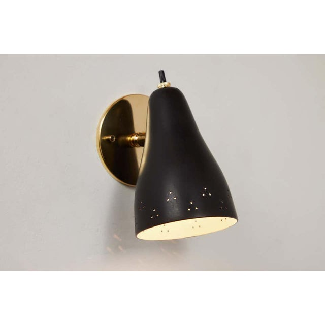1950s Perforated Italian Wall Lamp Attributed to Giuseppe Ostuni for Oluce For Sale - Image 9 of 13