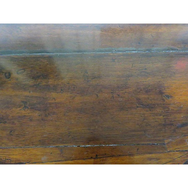 Wood Antique Demilune Hall Table For Sale - Image 7 of 13