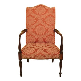 Modern Hickory Chair Co Sheraton Mahogany Lolling Chair For Sale