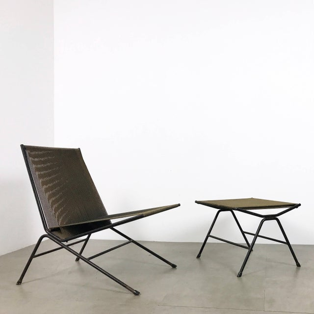 Allan Gould String Lounge Chair & Ottoman 1952 For Sale - Image 11 of 11