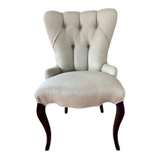 Baker Furniture Tufted Occasional Chair For Sale