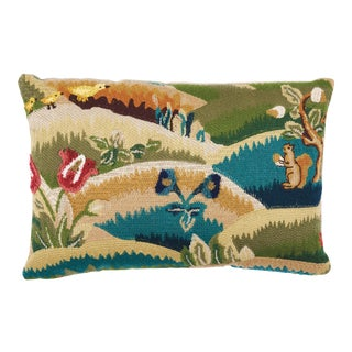 Schumacher Gerry Embroidery II Pillow in Document For Sale