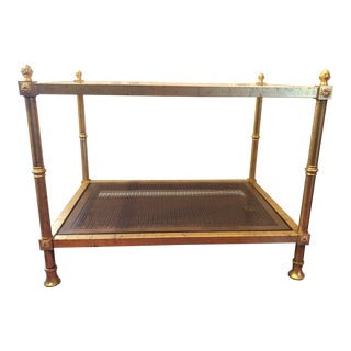 1970s Hollywood Regency Gold Gilt Side Table For Sale