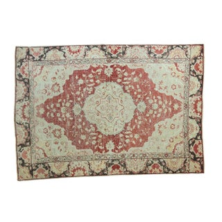 "Vintage Distressed Oushak Rug - 5'3"" X 7'5"" For Sale"