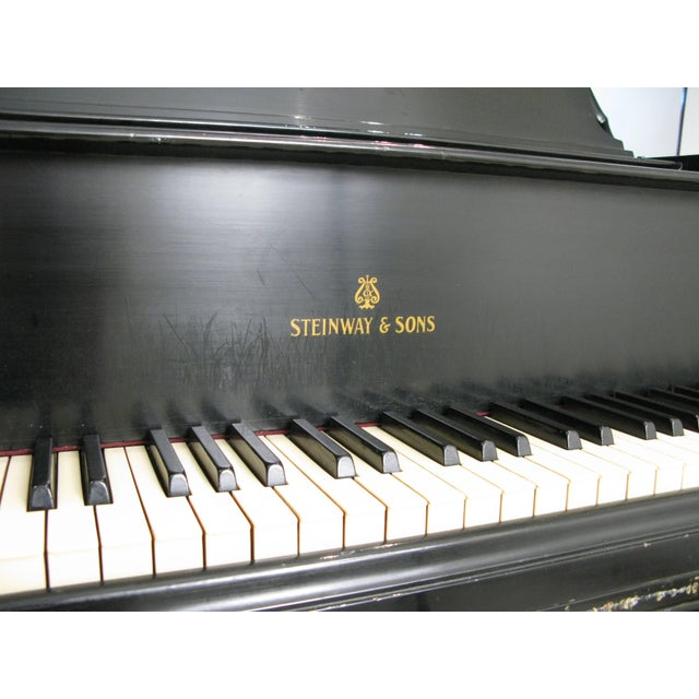 Americana Steinway & Sons 1912 Model M Ebony Piano For Sale - Image 3 of 12