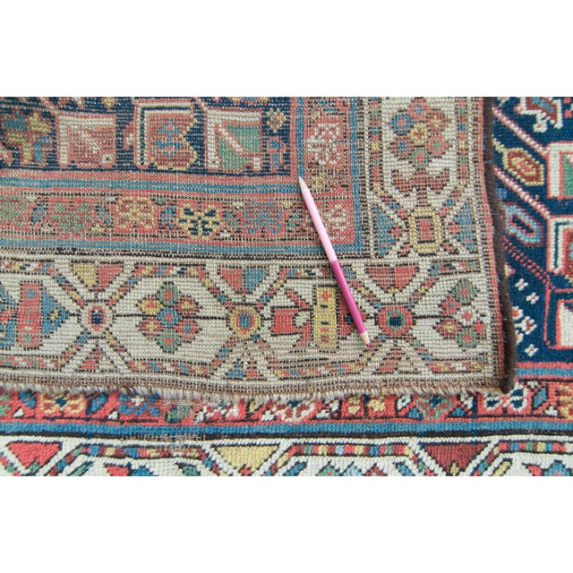 House of Séance - 20th Century Antique Caucasian Handwoven Rug - 3′1″ × 10′10″ For Sale - Image 10 of 11