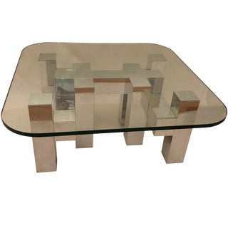 1970s Brutalist Monumentally Chic Coffee Table For Sale