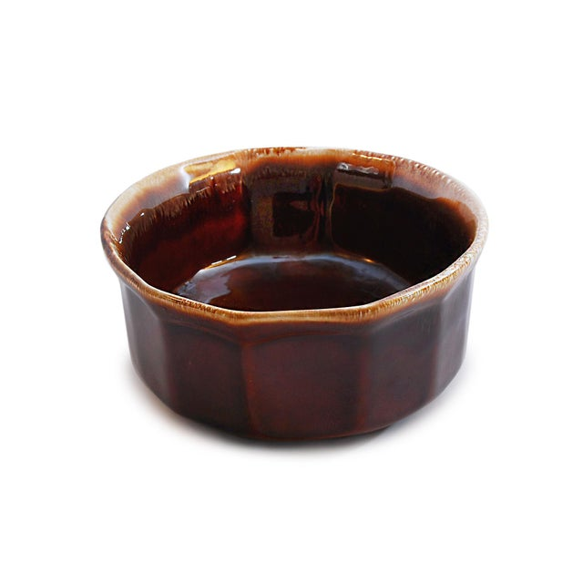 Contemporary McCoy USA Brown Drip Glaze Oval Serving Dish For Sale - Image 3 of 4