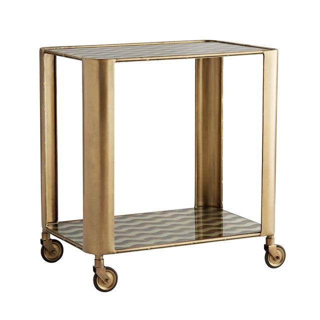 Celerie Kemble for Arteriors Tinsley Bar Cart For Sale In Dallas - Image 6 of 6