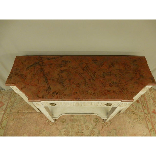 French Early 19th C Painted Directoire' Console For Sale - Image 3 of 10