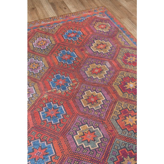 Afshar features old world charm and a high end design, accomplished by over-dyed rich colors. Masterful, sharp designs are...
