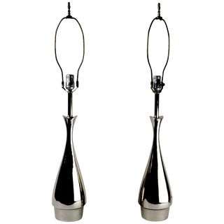 Pair of Teardrop Form Laurel Lamps Attributed to Tony Paul For Sale